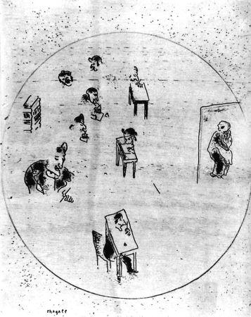 Aguafuerte Chagall - Le Bureau Des Contrats