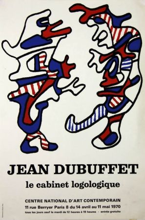 Litografía Dubuffet - Le Cabinet Logologique