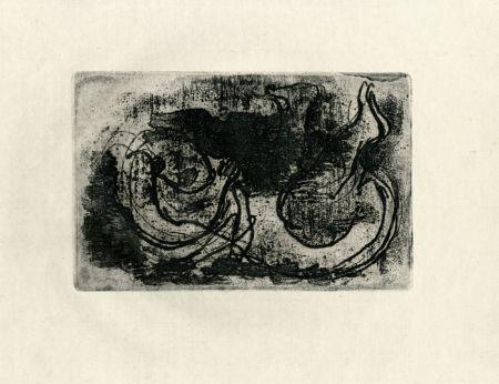 Aguafuerte Fautrier - Le cadavre (Fautrier l'enragé)