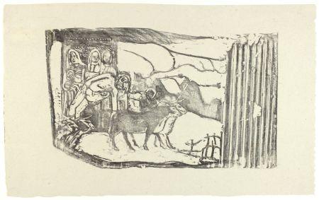 Grabado En Madera Gauguin - Le Calvaire Breton