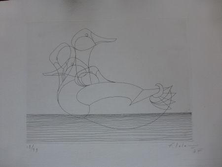 Aguafuerte Lalanne - Le canard