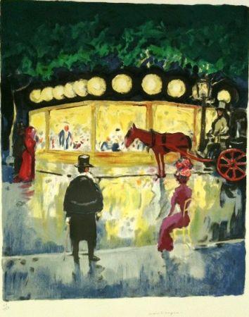 Litografía Van Dongen - Le Carrousel Au Bois De Boulogne