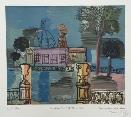 Grabado En Madera Dufy - Le Casino de la Jetée à Nice