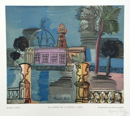 Grabado En Madera Dufy - Le Casino de la Jetée a Nice