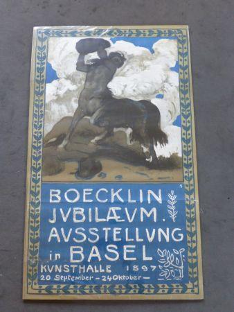 Cartel Boecklin - Le centaure ,musée de Bâle