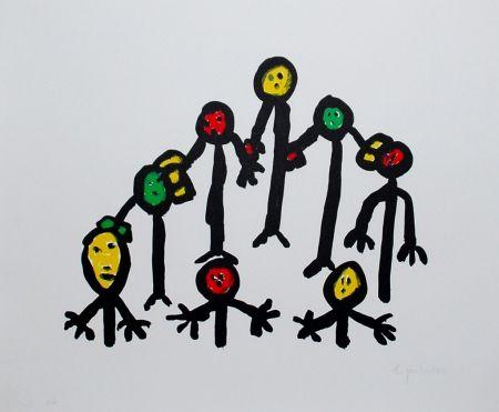 Litografía Ionesco - Le cercle familial