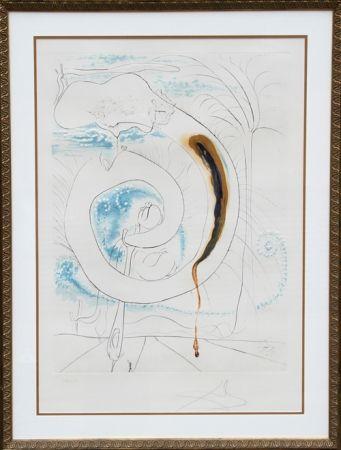 Grabado Dali - Le Cercle Visceral du Cosmos from La Conquete du Cosmos