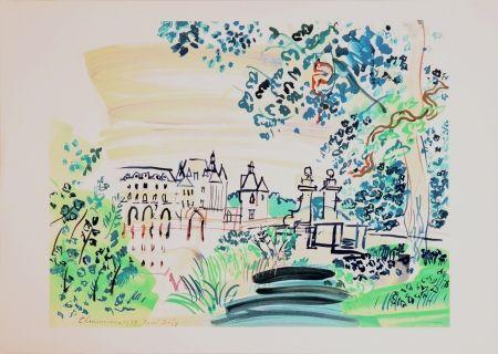 Litografía Dufy - Le château de Chenonceaux