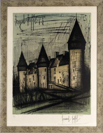 Litografía Buffet - Le château de Culan