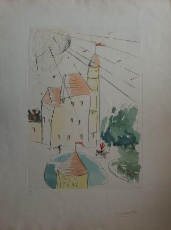Aguafuerte Dali - Le Château de Vascoeuil