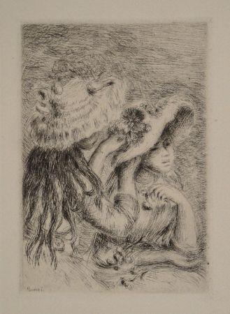 Grabado Renoir - Le Chapeau Épinglé. La Fille de Berthe Morisot et sa Cousine