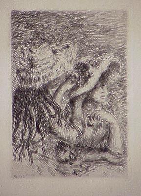 Grabado Renoir - Le chapeau épinglé, in Renoir et ses amis