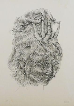 Litografía Bellmer - LE CHAPEAU MAIN