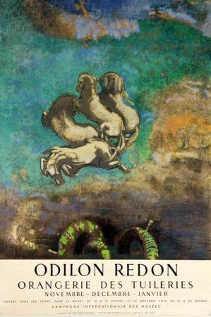 Litografía Redon - Le Char D'Apollon