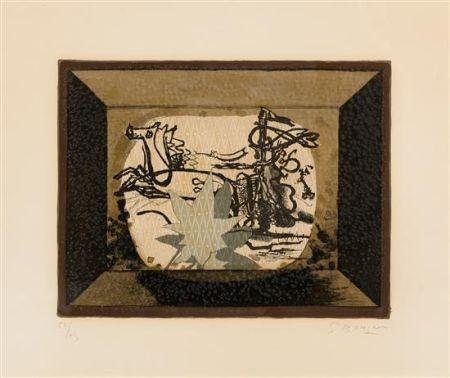 Litografía Braque - Le Char (The Chariot III)