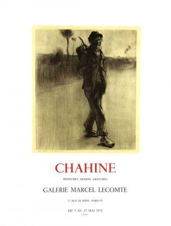 Litografía Chahine - Le Chemineau