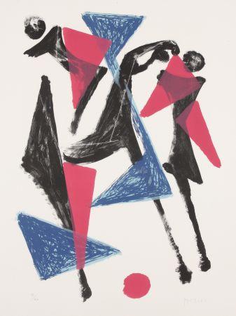 Litografía Marini - Le Cheval au Manege