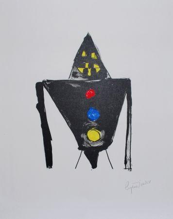 Litografía Ionesco - Le chevalier noir