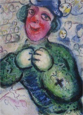 Litografía Chagall - Le Cirque, planche 16
