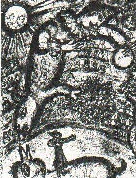 Litografía Chagall - Le Cirque, planche 37