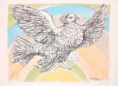 Litografía Picasso - Le Colombe Volant