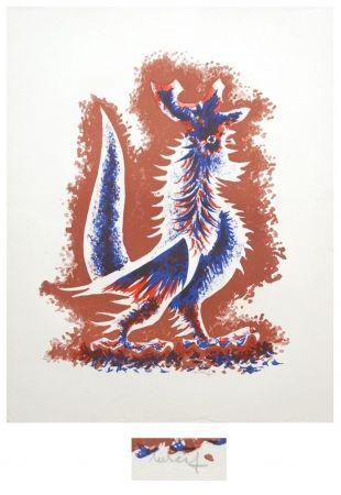 Litografía Lurcat - Le coq