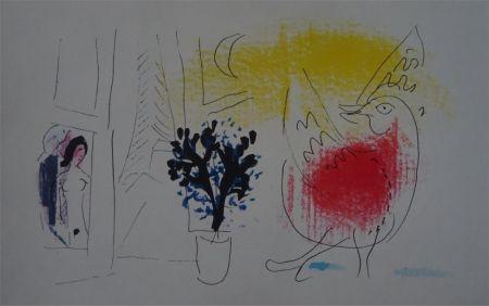 Litografía Chagall - Le Coq rouge