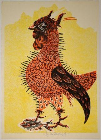 Litografía Lurcat - Le Coq rouge