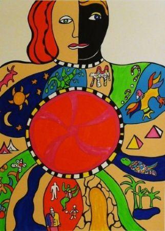 Litografía De Saint Phalle - Le couple