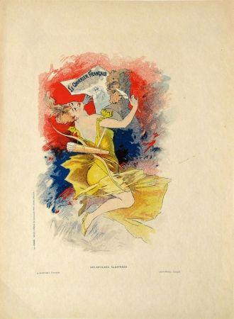 Litografía Cheret - Le Courier Francais