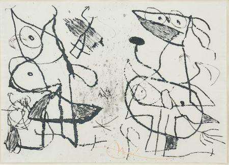 Aguafuerte Y Aguatinta Miró - Le Courtisan Grotesque II