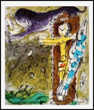 Litografía Chagall - LE CRISTAL HORLOGE