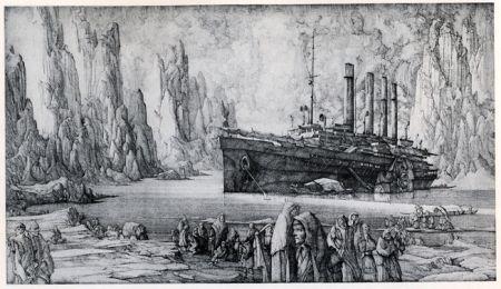 Grabado Desmazières - Le Debarquement