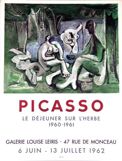 Litografía Picasso - Le Dejeuner sur L'Herbe  Galerie Louise Lieris