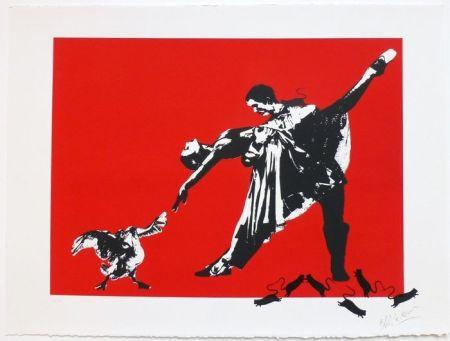 Serigrafía Blek Le Rat - Le Dernier Tango à Paris