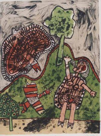Litografía Corneille - Le dialogue avec l'arbre