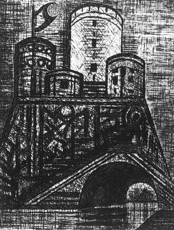 Aguafuerte Gromaire - Le Donjon du Dunsinane