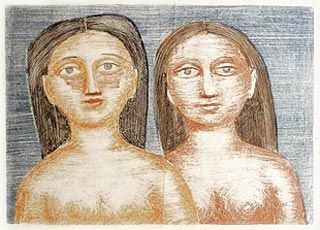 Litografía Campigli - Le due Sorelle