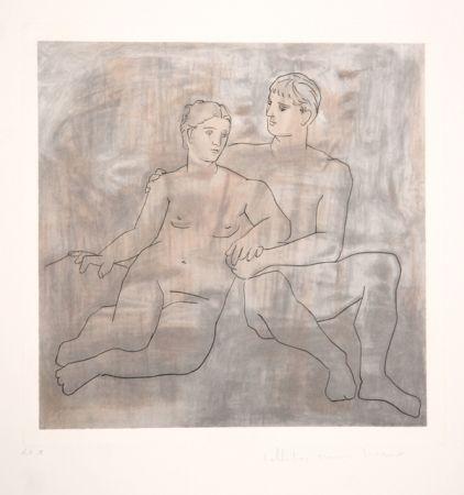 Litografía Picasso - Le Entretien