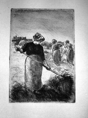 Aguafuerte Pissarro - Le Faneuses