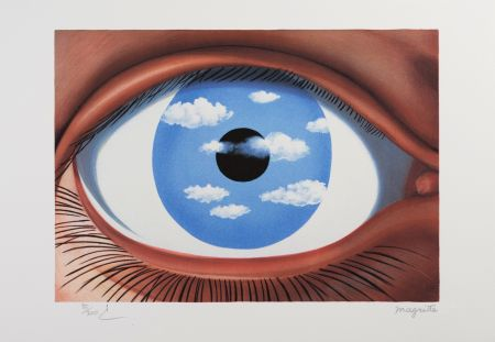 Litografía Magritte - Le Faux Miroir (The False Mirror)