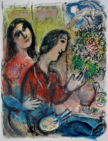 Litografía Chagall - Le Femme Du Peintre, The Artists Wife