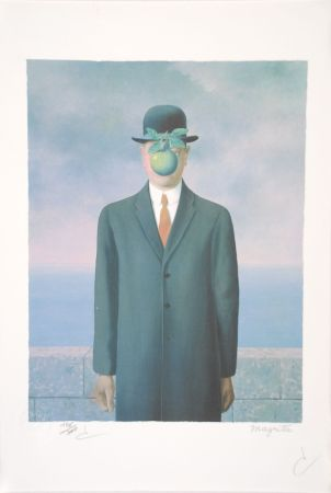 Litografía Magritte - Le Fils de l'Homme - The Son of Man