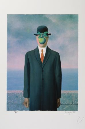 Litografía Magritte - Le Fils De L'Homme (The Son Of Man)