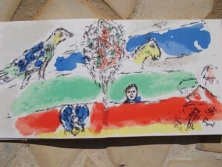 Litografía Chagall - Le fleuve vert