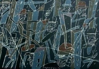 Litografía Segui - Le froid bleu des contre-nuits