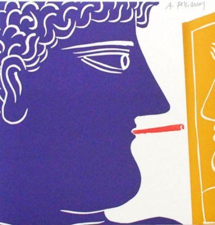 Litografía Fassianos - Le fumeur