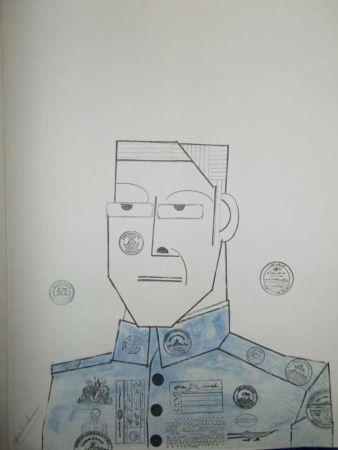 Litografía Steinberg - Le Général