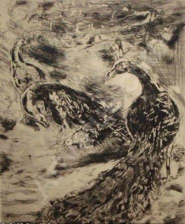 Aguafuerte Y Aguatinta Chagall - Le Geai Pare des Plumes du Paon