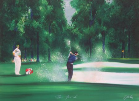 Litografía Spahn - Le golfeur